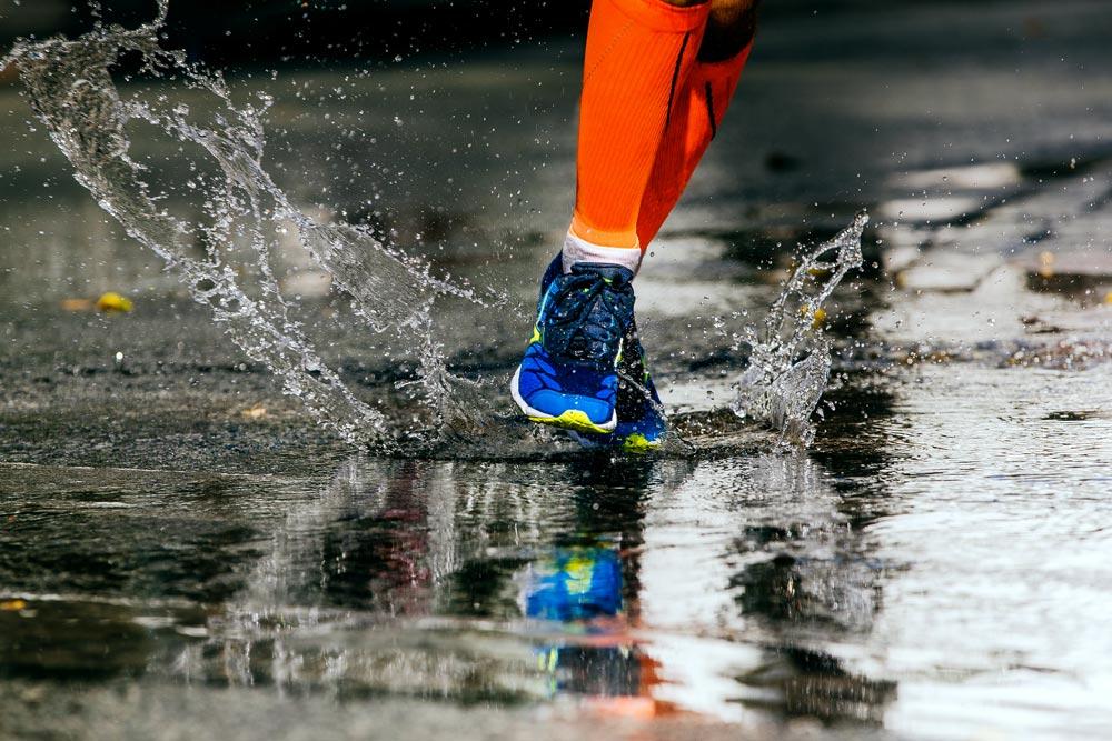 scarpe running pioggia