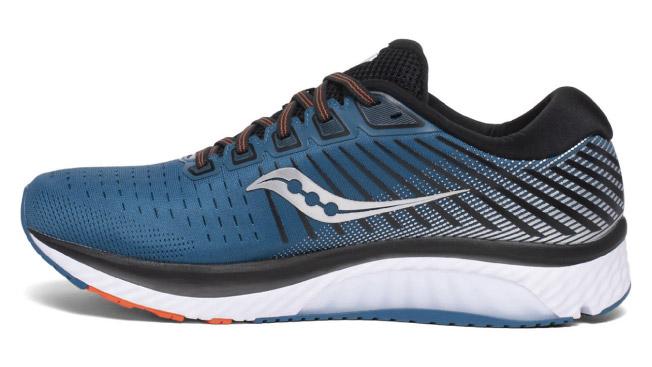 scarpe da corsa saucony guide blu e arancio